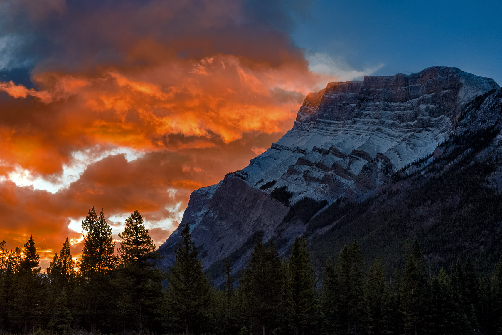 Mt Rundle from the Hoodoo Trail