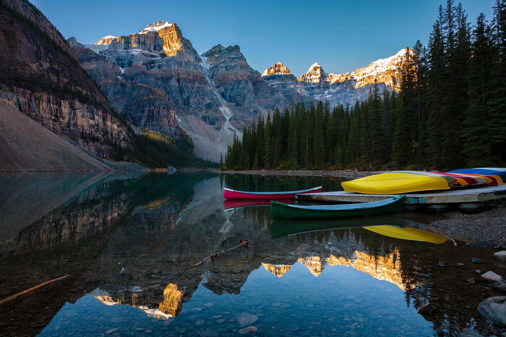 Moraine Lake Canoe Dock